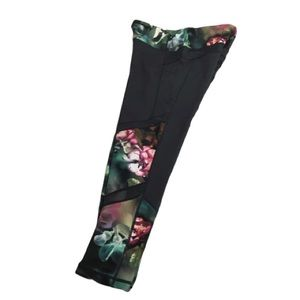Nanette Lepore Grey and Floral Leggings✨Size: M